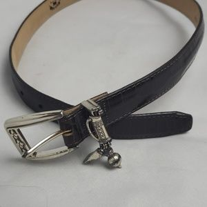Brighton golf leather belt, sz S/28.